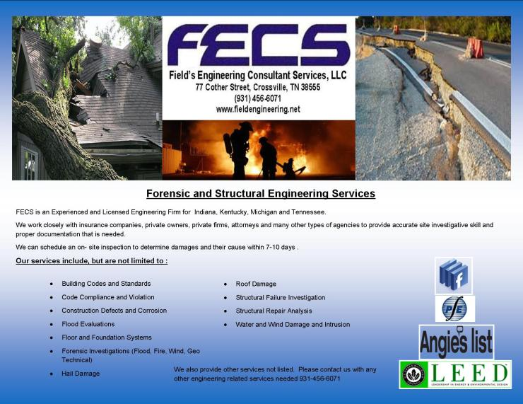 FECS Forensic and Structural Engineering Flyer 04.22.15