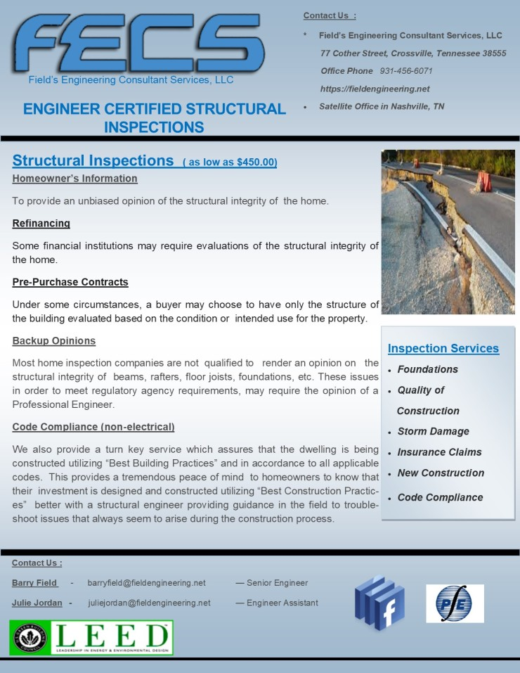 FECS Structural Flyer 8-28-2018